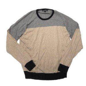 J Crew Mercantile Pullover Sweater Color Block L